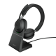 Jabra Evolve2 65, Link380a UC Stereo Stand Black USB-A BT